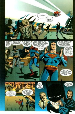 Worlds Finest Superman Batman- Rude