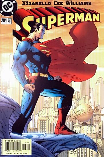 Superman 204 Cover- Jim Lee